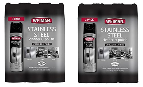Weiman Stainless Steel Cleaner & Polish, 17oz. (6 Pack) by Weiman