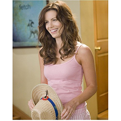 kate-beckinsale-in-pink-spaghetti-strap-and-soft-curls-holding-hat-8-x-10-inch-photo