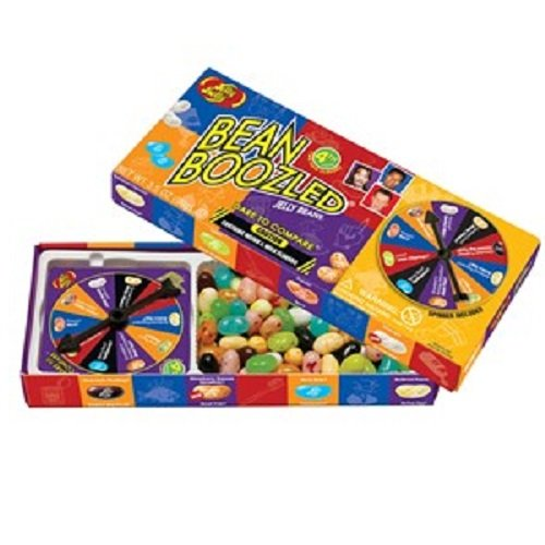 3 Way Popcorn Gift Tin - Jelly Belly BeanBoozled Spinner Game and 4 Refill Boxes 1.6 Ounces each - (Pack of 5)
