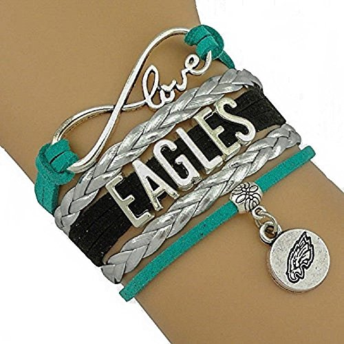 (Infinity Love Philadelphia Eagles Charm Bracelet - This Charm is The Perfect Addition to Game Day Apparel! Sterling Silver.)
