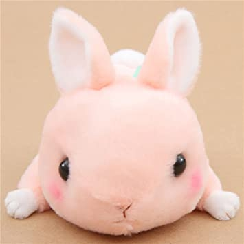 Conejito kawaii rosa melocotón muñeco peluche Kyun To Naki Usagi Nenne de Japón