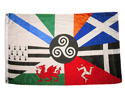 (RFCO 3x5 European Celtic Nations Flag 3 by 5 Foot Ireland Scotland Wales Brittany)