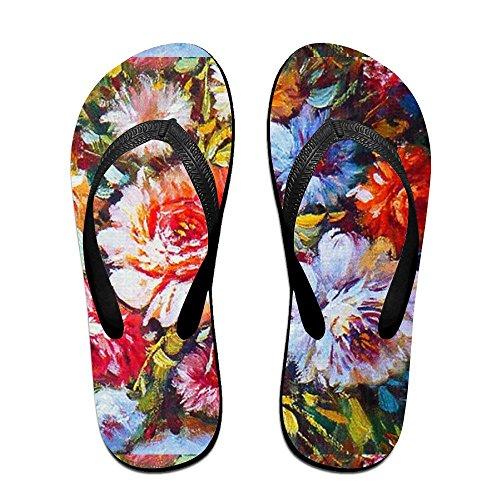 for Slippers Painting Flowers Kids Oil PTJHKET Flops Women Men Colorful Flip wqtxFq0YT