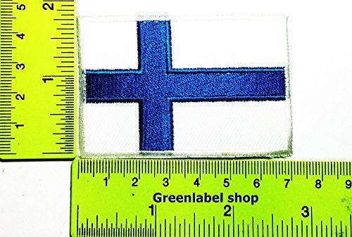 Each country's flag Finland flag Patch Logo Sew Iron on Embroidered Appliques Badge Sign Costume Send Free Registration