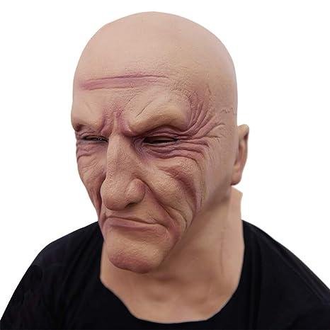 b5cee82a2e670f RZ Réaliste Latex Vieil Homme Masque Masque Déguisement Halloween Fantaisie  Tête en Caoutchouc Adulte Partie Masques Masquerade Cosplay Props   Amazon.fr  ...
