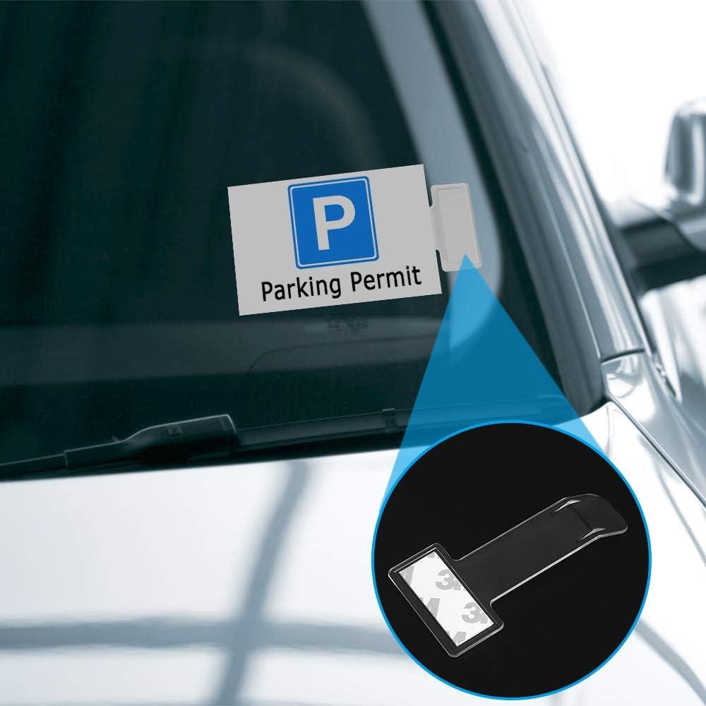 chudian 12 St/ück Parkscheinhalter Auto Windschutzscheibe Ticket Halter Selbstklebend f/ür Parkschein Parkausweis Anwohnerparkausweis Transparent Ticket Halterung Clip aus Kunststoff