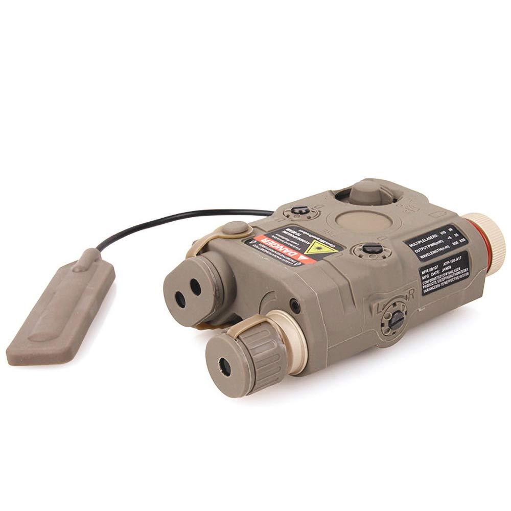Red Laser Sight Black for AEG GBB CQB Tan//DE PEQ-15 Style LED Flashlight