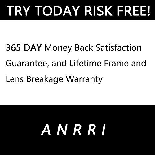 ANRRI Blue Light Blocking Glasses for Computer Use, Anti Eyestrain Headache UV Filter Gaming Eyeglasses Lightweight Frame, Tortoise, Man/Women by ANRRI (Image #7)