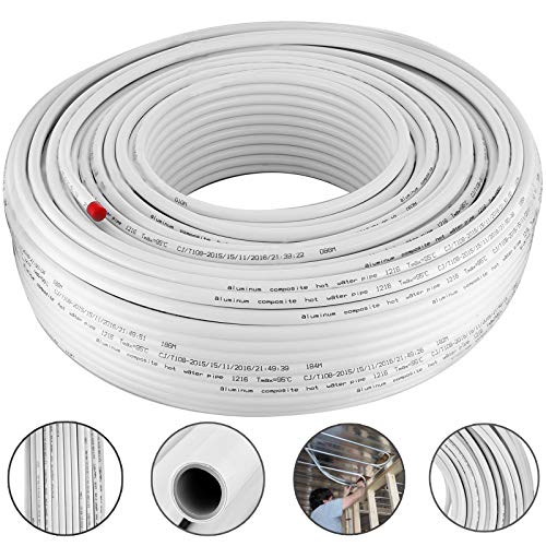 White Pex Tubing (Happybuy 656Ft Roll of 1/2