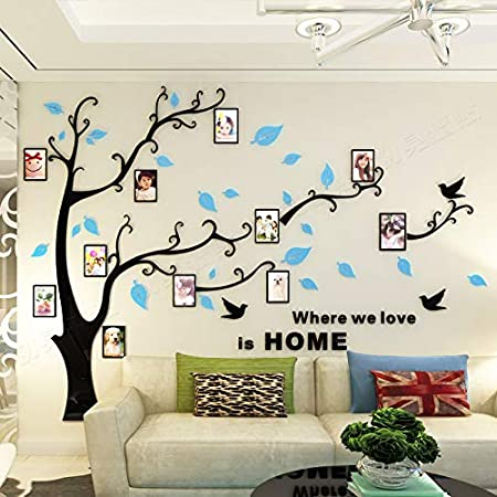 Alicemall 3D Wall Stickers Photo Frames FamilyTree Wall Decal Easy ...