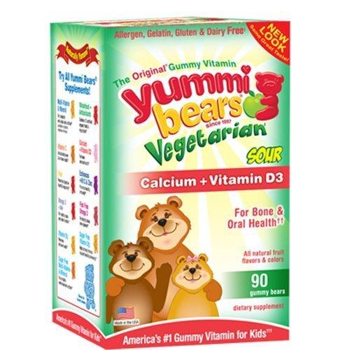 Calcium w/ Vitamin D-Vgtrn Bears Yummi Bear 60 Chewable by Yummi Bear