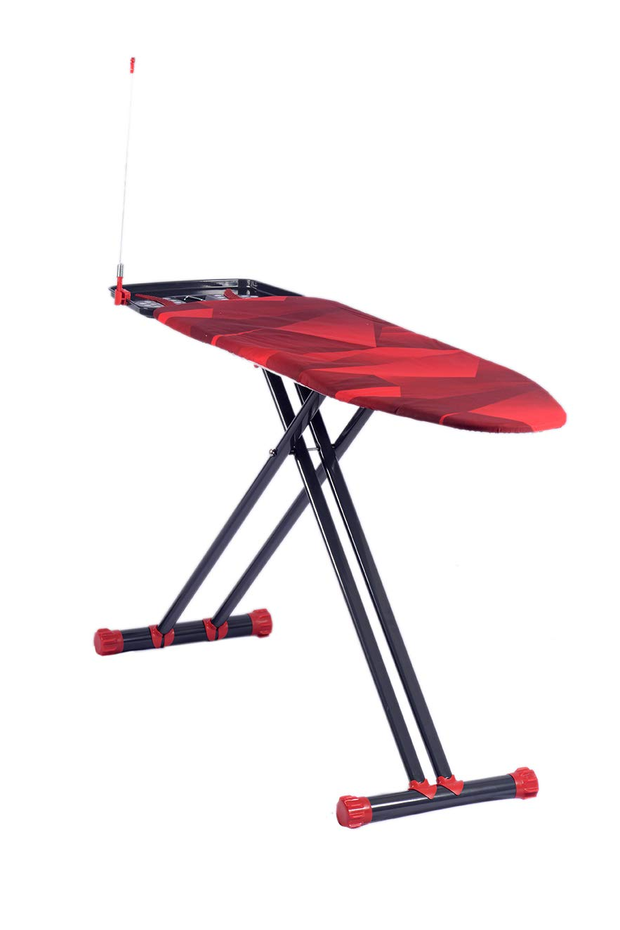 Gooder Home Diamond Series Top Ironing Board Extra Cover Included. Sturdy and Deluxe Ironing Board