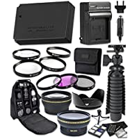 Canon EOS Rebel SL1 Digital Camera 14pc Accessory Bundle Includes LP-E12 Replacement Battery, AC/DC Worldwide Charger, Camera Backpack and More