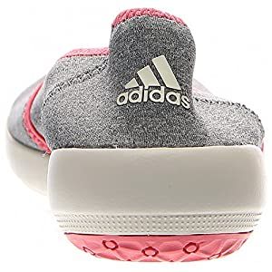 adidas Outdoor Women's Boat Slip-On Sleek Water Shoe, Med Grey Heather/Chalk White/Super Blush, 7.5 M US
