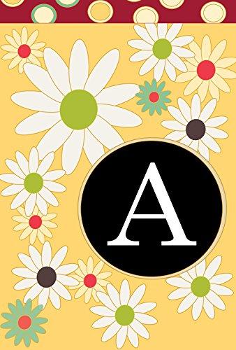 - Toland Home Garden Floral Monogram A 12.5 x 18 Inch Decorative Spring Summer Flower Initial Garden Flag
