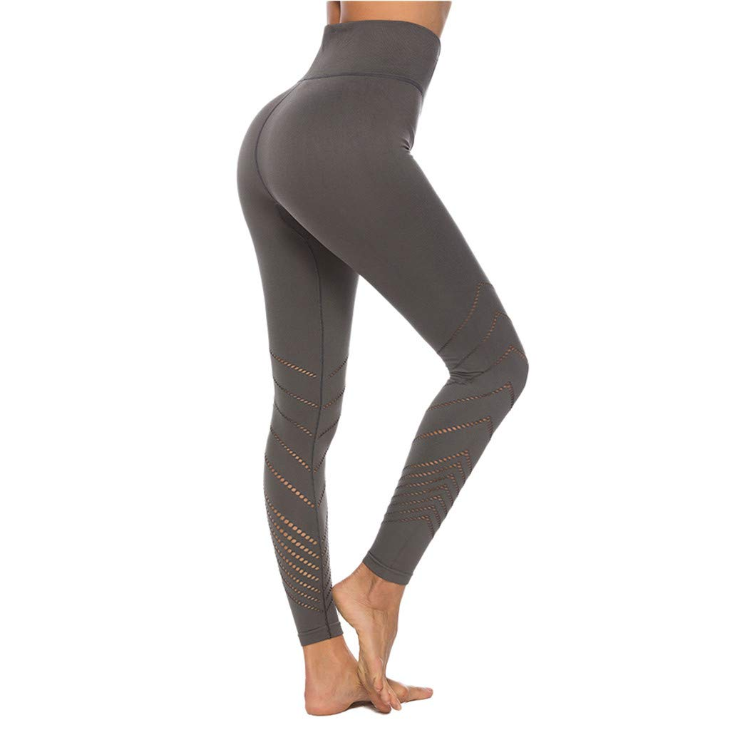 JQjian High Waist Yoga Pants for Women, Tummy Control Slimming Booty Leggings Workout Running Butt Lift Tights