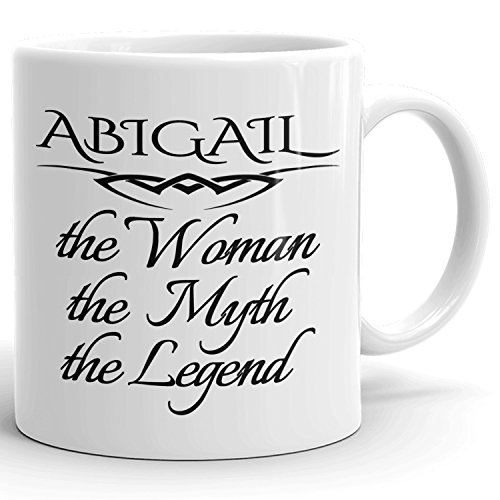 Best Personalized Womens Gift! The Woman the Myth the Legend - Coffee Mug Cup for Mom Girlfriend Wife Grandma Sister in the Morning or the Office - A Set 4