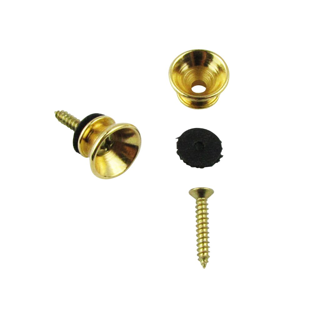 Musiclily Guitar Metal Small Strap Buttons, Gold(2 units) M131-2
