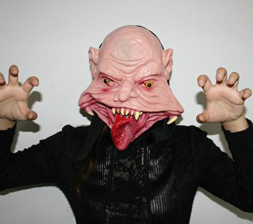 (Halloween Festival Party Show Celebration Prop Bar Decoration Cos Cosplay Devil Ghost Alien Horror Head Mask Masquerade Headgear (Mouth)