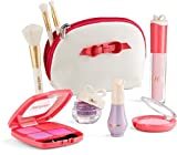 Litti Pritti Pretend Makeup For Girls Set - 9 Piece Cosmetic Play Makeup Kit - PU Leather Case