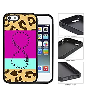 Hakuna Matata Safari Infinity Sign Rubber Silicone TPU Cell Phone Case Apple iPhone 5 5s