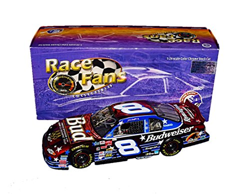 AUTOGRAPHED 2000 Dale Earnhardt Jr. #8 Budweiser Racing US OLYMPIC TEAM (Race Fans Only) Red Color Chrome Winston Cup Series Rare Signed Action Collectible 1/24 NASCAR Diecast Car with COA
