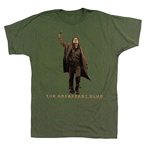 The Breakfast Club Vintage Guy Fist Pump Men's Green T-shirt XXL