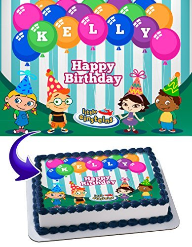 (Little Einsteins Edible Cake Topper Personalized Birthday 1/4 Sheet Decoration Custom Sheet Party Birthday on Wafer Rice Paper)