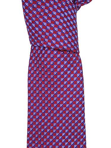 canali-mens-red-geometric-print-silk-neck-tie