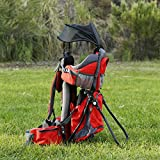 Clevr Canyonero Camping Baby Backpack Hiking Kid Toddler Child Carrier with Stand and Sun Shade Visor, Merlot Red | 1 Year Limited Warranty