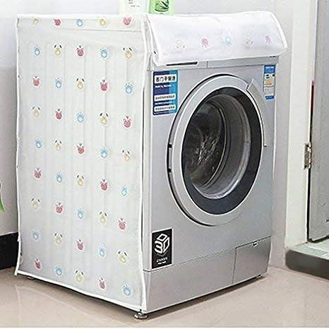 completamente automatica copertura per lavatrice a rullo YK.Hapyshop asciugatrice impermeabile protezione antipolvere antigoccia B# Bear A# Four-leaf Flower