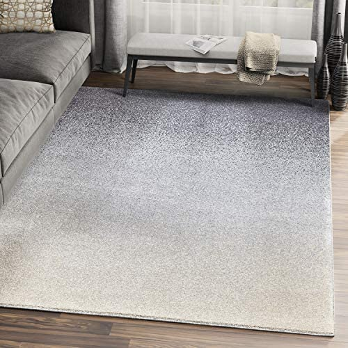 Abani Rugs Grey Beige Speckled Ombre Pattern Neutral Area Rug