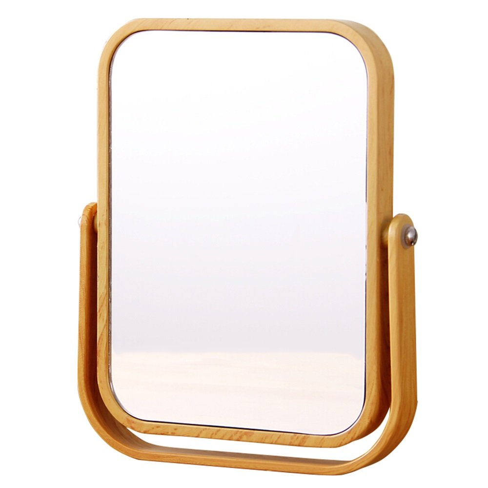 Mirror-European-Style Double-Sided Tabletop Makeup Mirror/Portable Magnifying Vanity Mirror Natural Color 16.3cm Harvest US