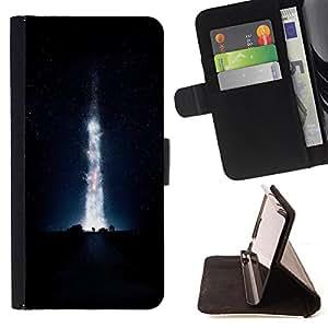 - Space Night Nebula - - Monedero PU titular de la tarjeta de cr?dito de cuero cubierta de la caja de la bolsa FOR Apple Iphone 5C Retro Candy