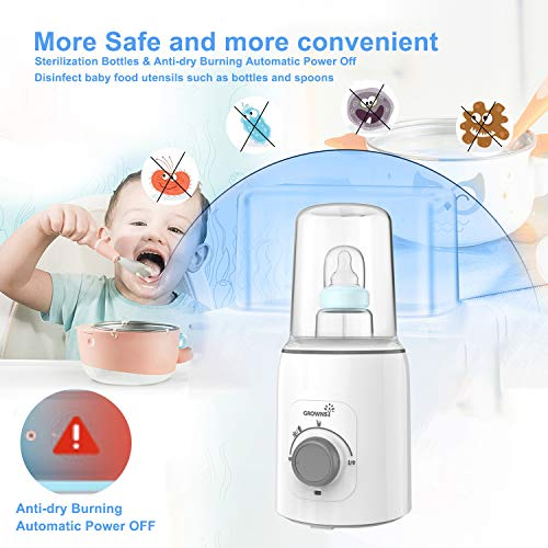 51CJUYYFQNL - Bottle Warmer, 5-in-1 Fast Baby Bottle Warmer And Sterilizer Baby Food Heater&Defrost BPA-Free Warmer For Breastmilk And Formula