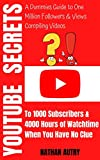YouTube Secrets to 1000 Subscribers & 4000 Hours of Watchtime When You Have No Clue: A Dummies Guide to One Million Followers & Views Compiling Videos