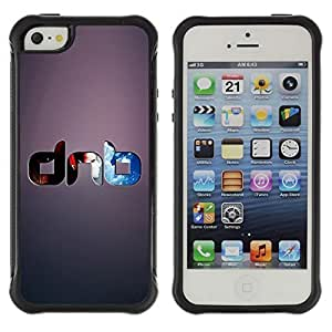 Hybrid Anti-Shock Defend Case for Apple iPhone 5 5S / Cool DNB Drum & Base