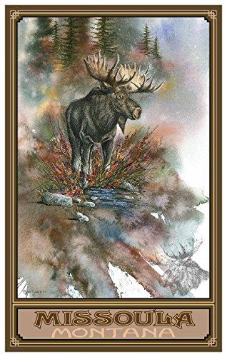 Missoula Montana Autumn Splendor Travel Art Print Poster by Dave Bartholet (12