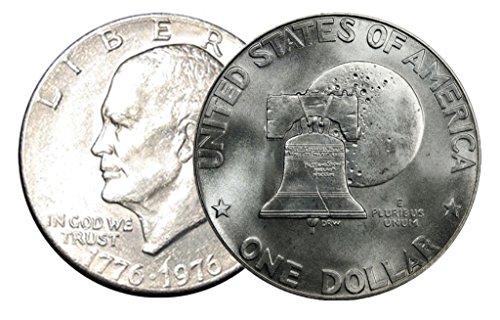 1976 P, D 2 Coin Set Type 1 Eisenhower Dollars Uncirculated 1976 Eisenhower Dollar Type