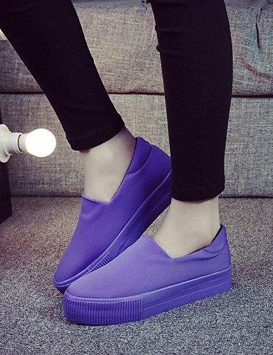 Cordones Exterior negro Creepers Plataforma Mocasines Tela Casual Zapatos Mujer Eu36 Zq Sin Purple us6 De Uk4 Uk6 Purple us8 Cn39 Eu39 Punta Cn36 Redonda Cn3 nqOz7vx
