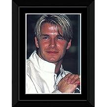 David Beckham - White Shirt Framed Mini Poster - 14.7x10.2cm