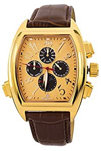 Burgmeister Sao Paulo BM131-275 - Reloj de caballero automático, correa de piel color marrón