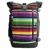 Ethnotek Raja Travel Backpack with Hand Woven Fabric | Large 46L Pack | Guatemala 1