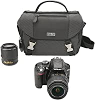 Nikon D3300 DX Kit Cámara Foto DSLR con Zoom Lenses de 18-55mm DX VR II y 55-200mm DX VR II, Estuche, SD Card de 16 GB y Tripie, color Negro