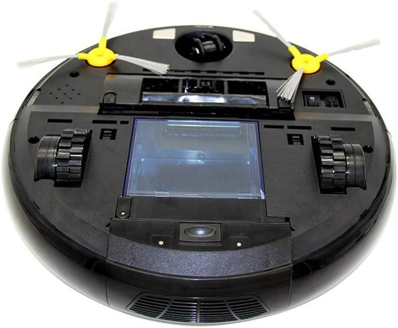 Zhipeng Aspirateur Robot Robot avec Auto-Charge Sec et Humide Mopping for Plancher de Bois Télécommande Intelligent Robotic Aspirateur (Couleur: Noir) hsvbkwm (Color : Brown) Black