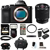 Sony Alpha a7S ILCE7SB ILCE7S/B ILCE-7SB Compact Interchangeable Lens Digital Camera + Sony SEL2870 FE 28-70mm Lens + Sony HVLF60M Flash + Sony 64GB SDXC Memory Card + 55mm UV Protector