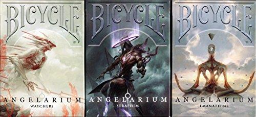 Albino Dragon Angelarium Trilogy 3 Deck Set Bicycle Playing Cards Poker Size USPCC Custom