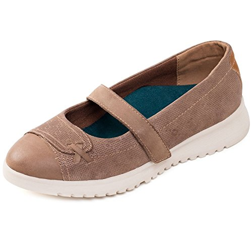 PADDERS Request Womens Casual Pumps Taupe Combi zAg5D6y