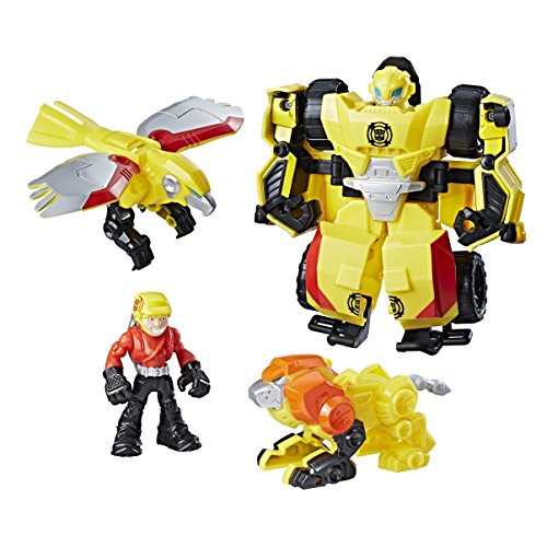 Playskool Heroes – Transformers Rescue Bots – Bumblebee Sauvetage Rocheux – Coffret Figurines