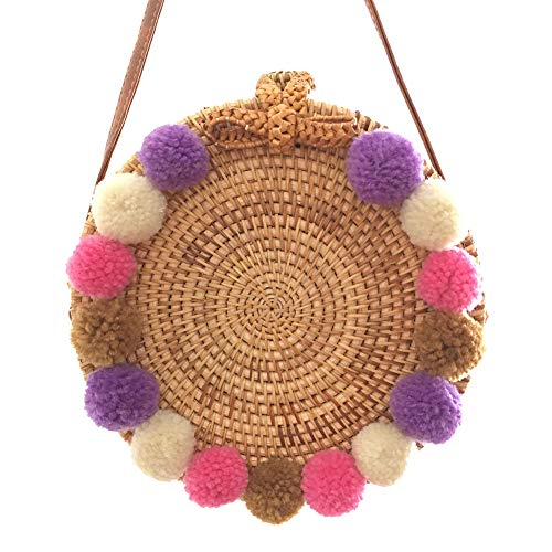 Bolsa Snap Playa Santimon Marrón Ball Tela 20180809003 de de Fuzzy Rectangle y gRwxBqCw